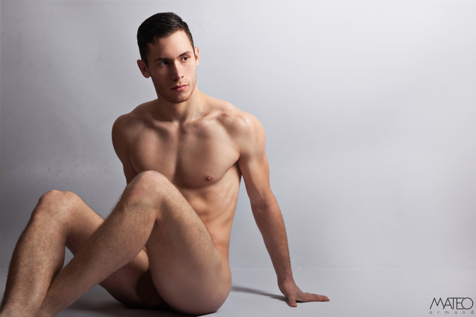 Stunning beautiful male model Romain Chamby is here again with us posing for the lens of Mateo Armand.