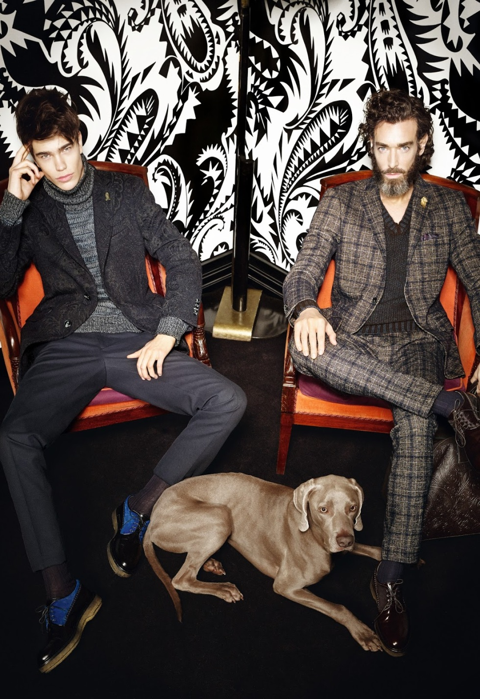 """Etro Uomo Fall/Winter 2015.16 Campaign/Lookbook. The collection was referred to as being """"as rich and curated as a cabinet of curiosities."""" This collection was a strong example of mind over matter in the pursuit of artistic sartorial adornment."""
