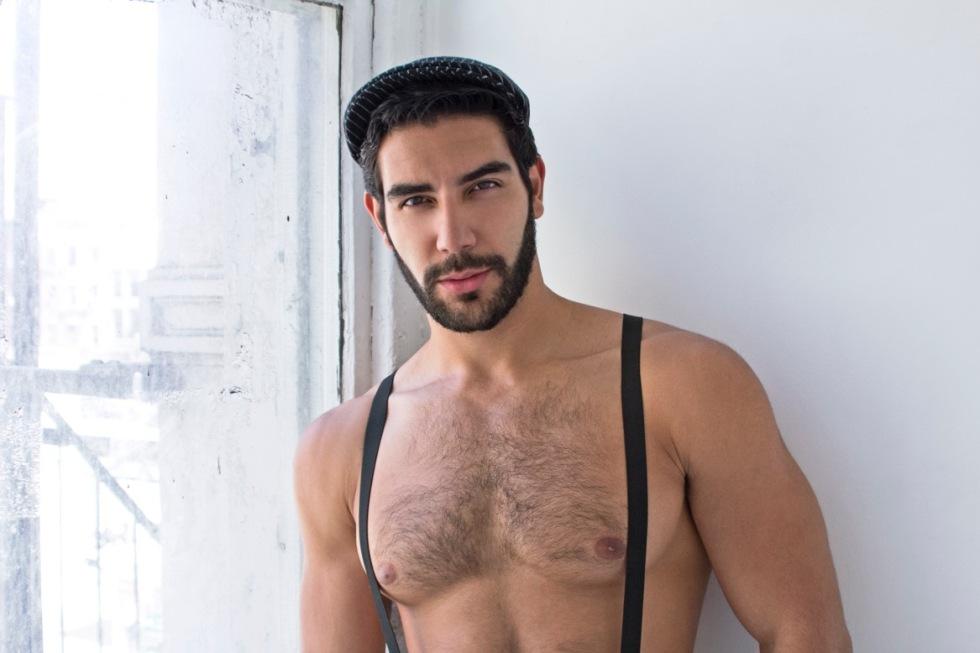 Masculine model Daniel Gavrilov posing by lens of Andreas Constantinou.