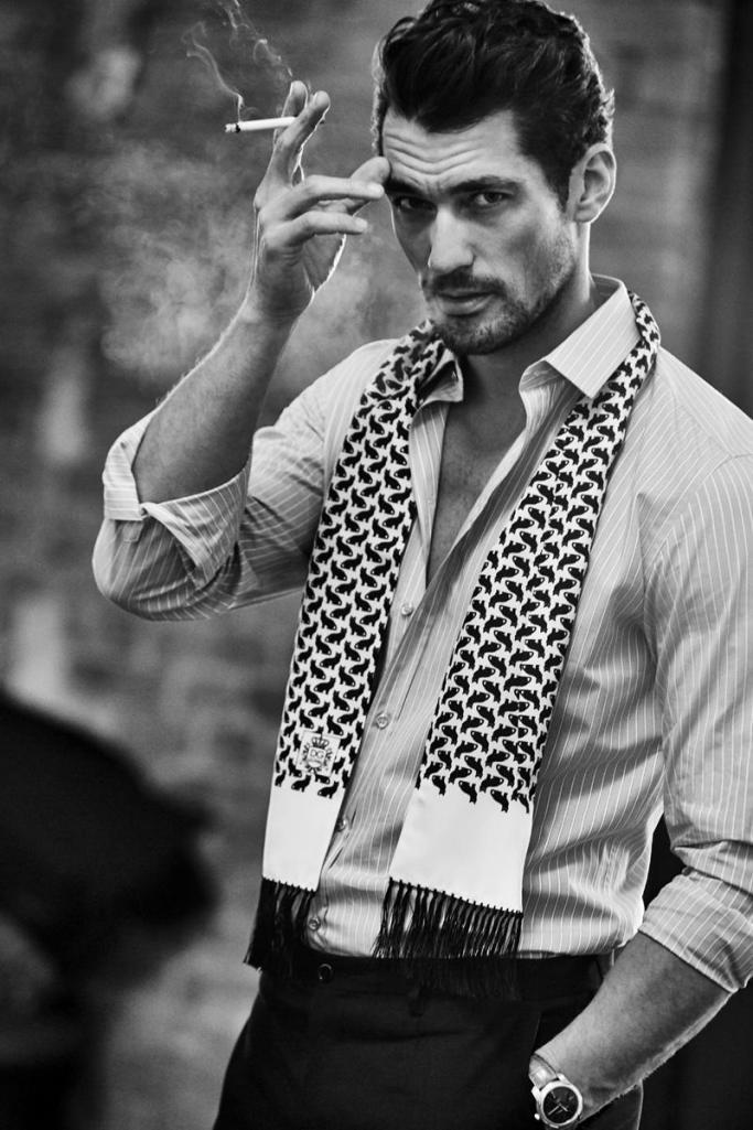 david gandy poses for grazia italia fashionably male