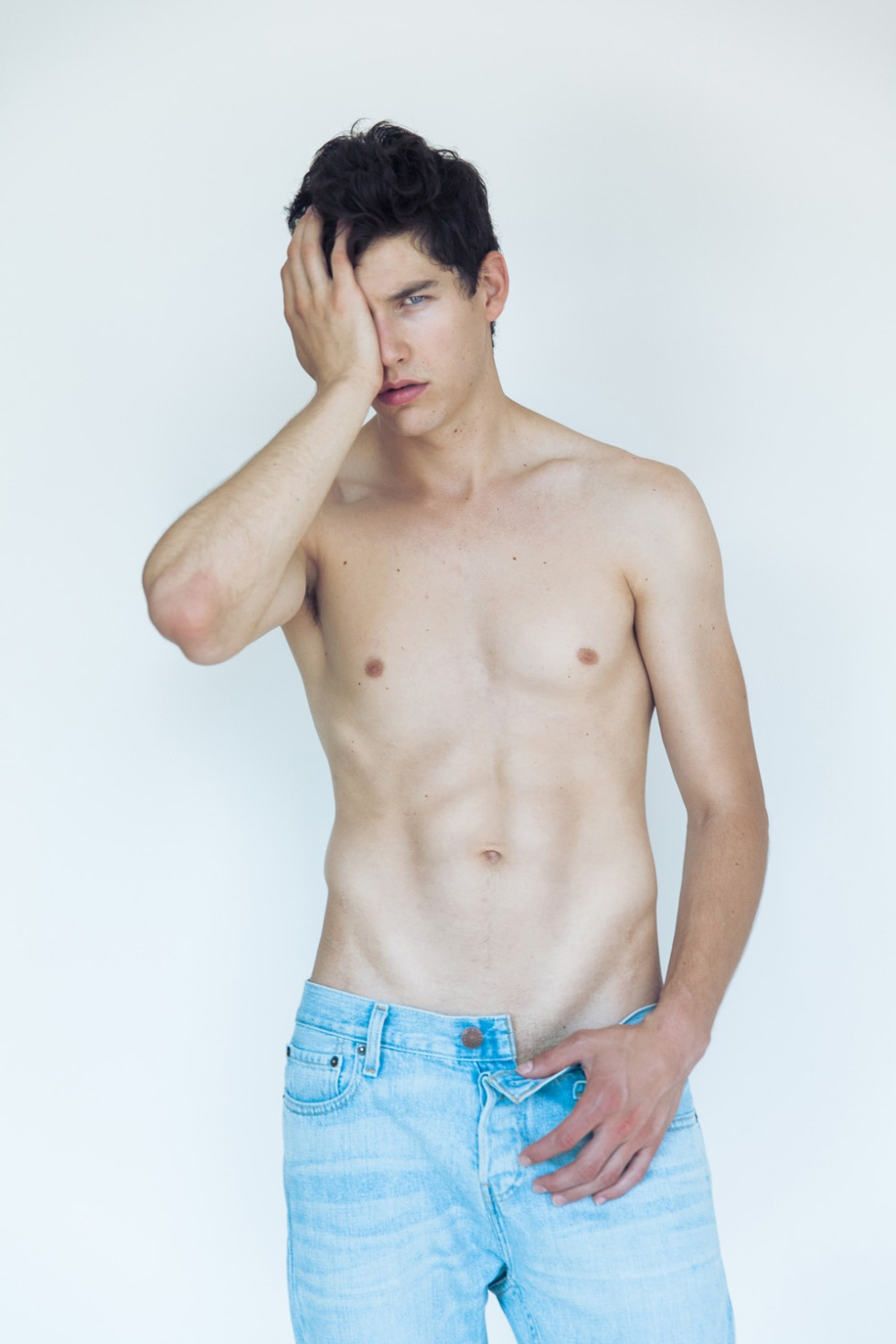 "Is Jesse Duval, 6'2 "", blue eyes and brown hair, he has a defined thin face and an enviable body, shot by Juan Neira, this time Jesse comes up really strong after his exclusive show for Calvin Klein in Milan. Jesse is a new face who came, saw and conquered. Look out for this guy!"