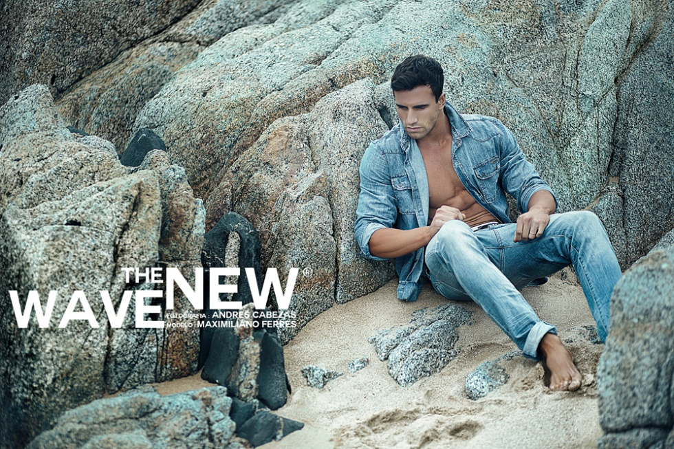 "So we have a ""New Wave"" with the work of Andrés Cabezas based in Santiago de Chile, and hunk male model Maximiliano Ferrer"
