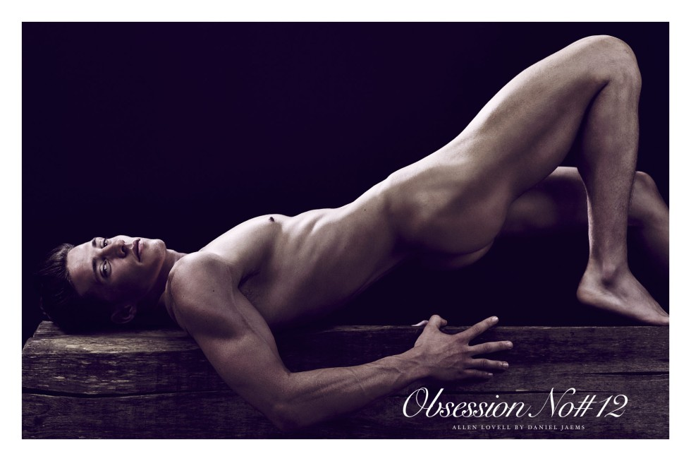 Splendid fine art nude portrait by photographer Daniel Jaems featuring in Obsession #12 Allen Lovell. Slay!