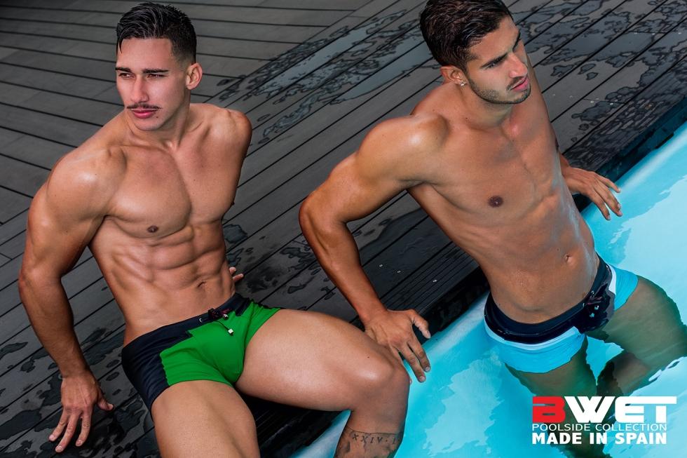 Shooting at AC Iberia Hotel, Las Palmas de Gran Canaria, here's latest work from Spanish photographer Adrian C. Martín featuring Gabriel Arocha & Aransahi Cazorla for BWET Swimwear.