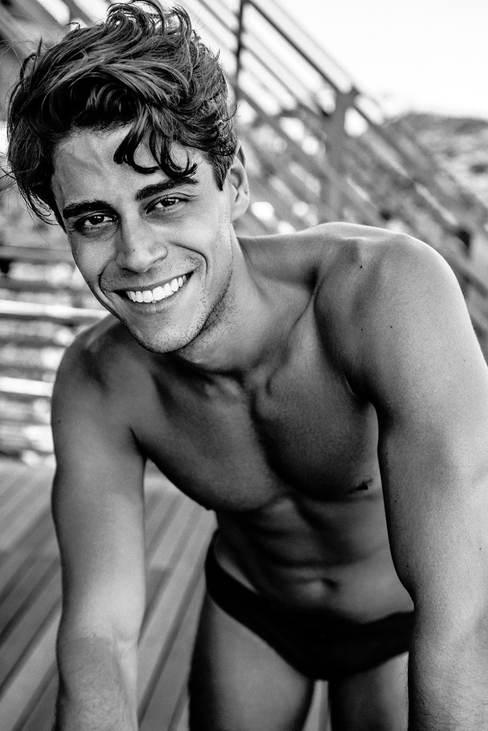 Muito lindo! Yeah this is stunning Brazilian male model Cristiano Mauro now based in NYC posing, smiling and with so much attitude for Kamera Addikt.