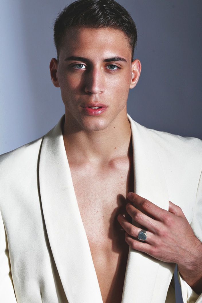 Argentina beauty Facundo Garnero at DHR Models is starring last work by Inboga Mag shot by Diego Restivo.
