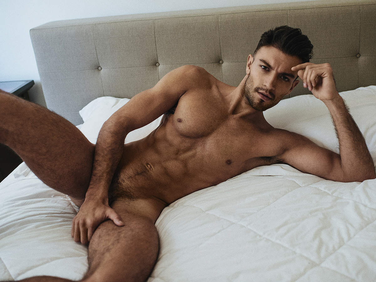 Nude boys bed