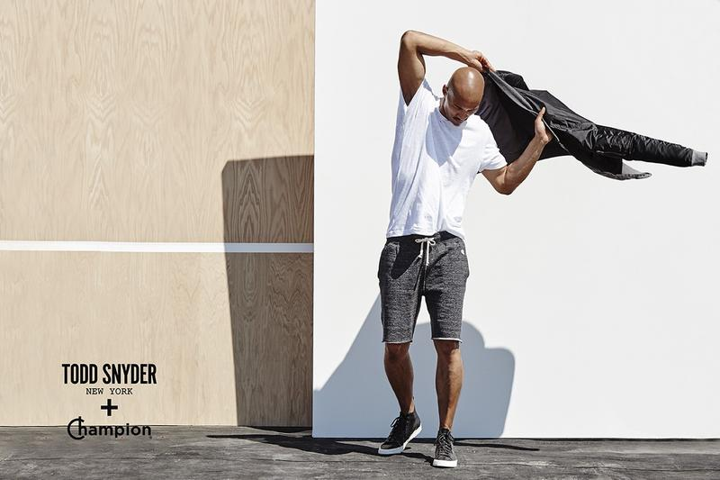 2 fashion brands reunited Todd Synder + Champion F/W 2015 Campaign, wearable fresh sportswear collection, modeling some pieces by Paolo Roldan.