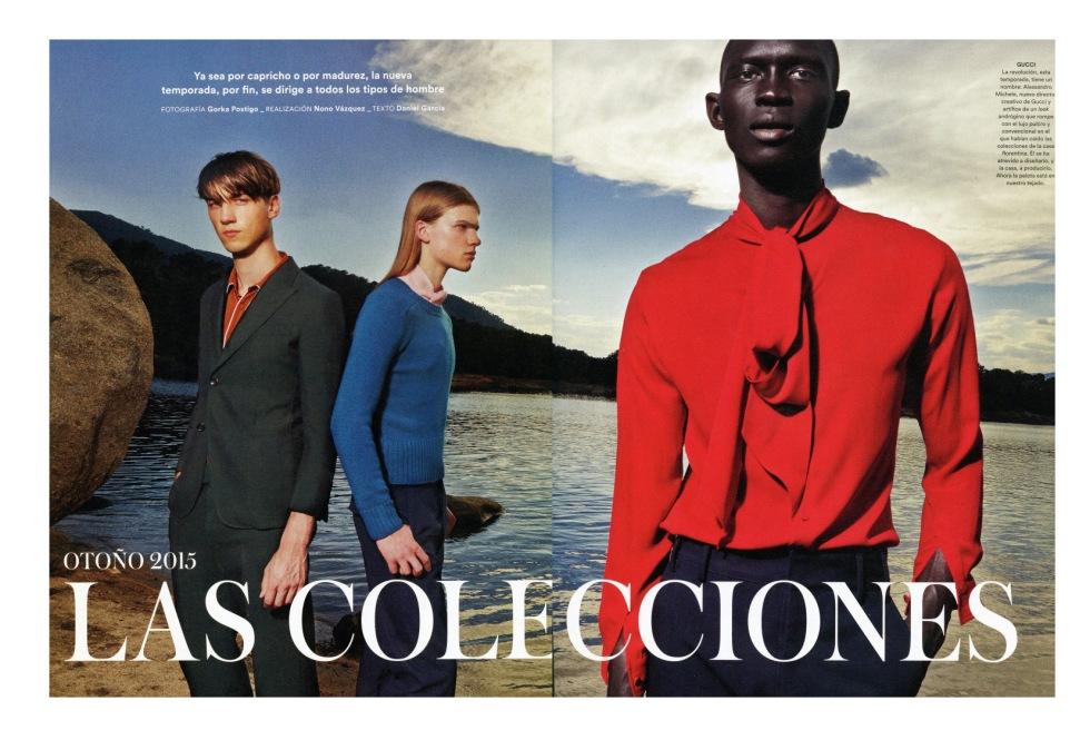 ICON El País September 2015 Las Colecciones Photographer: Gorka Postigo. Stylist: Nono Vázquez. Text: Daniel García.