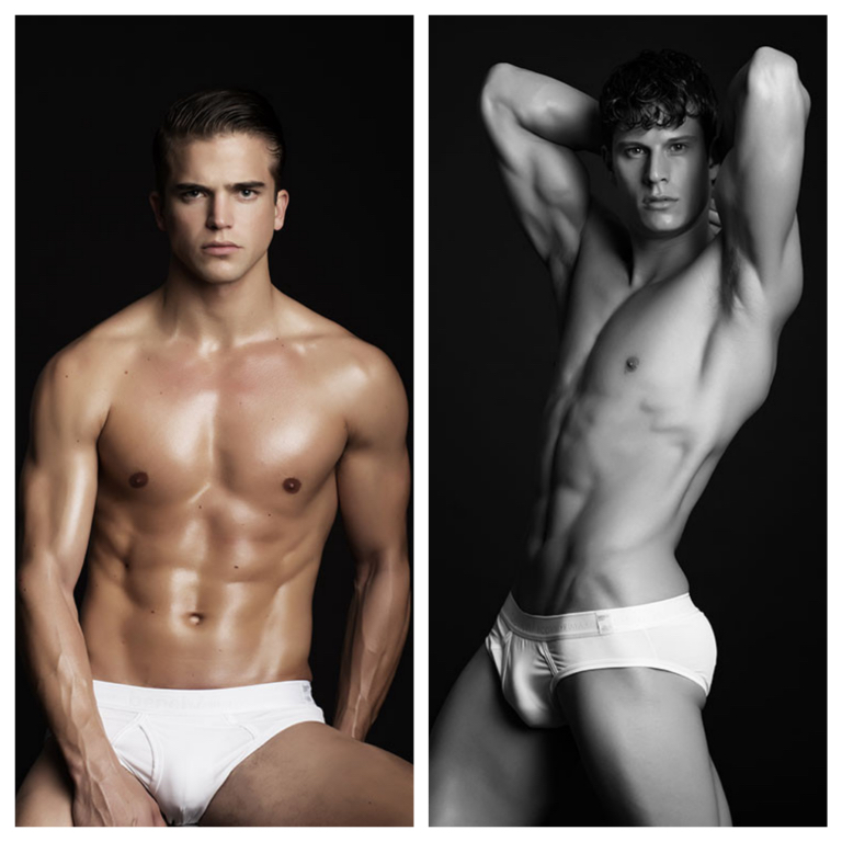River Viiperi (@riverviiperi) and Eian Scully (@eianscully) pose for Photographer Brent Chua in this series of images for the upcoming Red Charity Gala featuring BENCH/Body X Lesley Mobo.