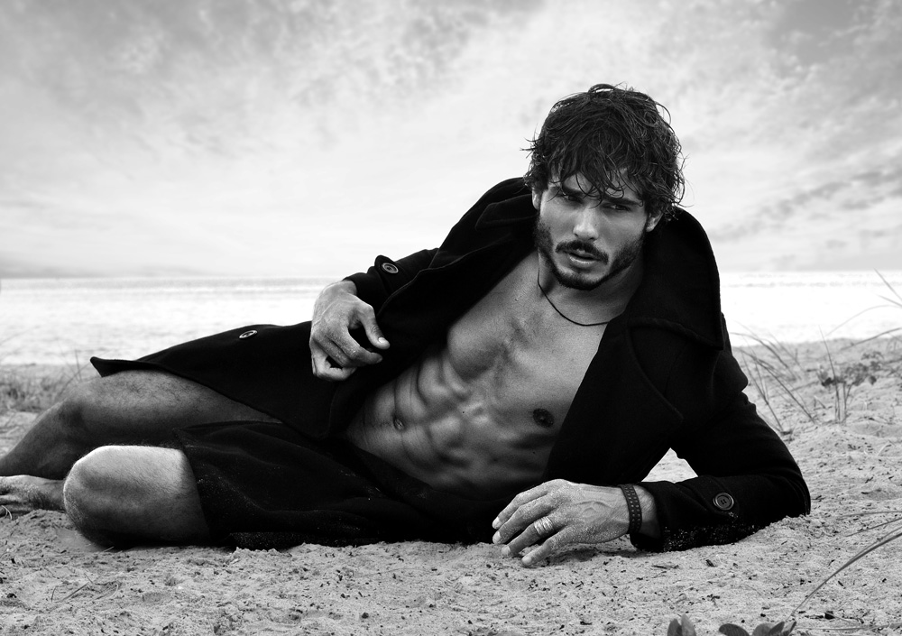 Stunning hunk male model Stefan Tisseyre teams up with prolific photographer Stevan Reyes for a radiant new session at the beach.