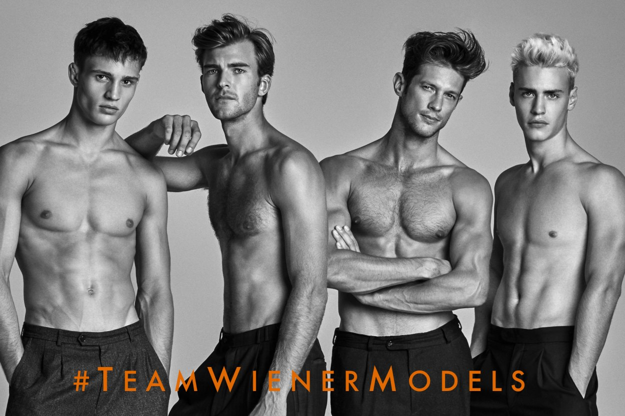 Re-blogging from FTAPE – Kosmas Pavlos brings us #TeamWienerModels, an exclusive editorial showcasing some of Wiener Model Management's new wave and established home-bred Austrian models (left to right) Julian Schneyder, Patrick Kafka, Domenique Melchior & Oliver Stummvoll.