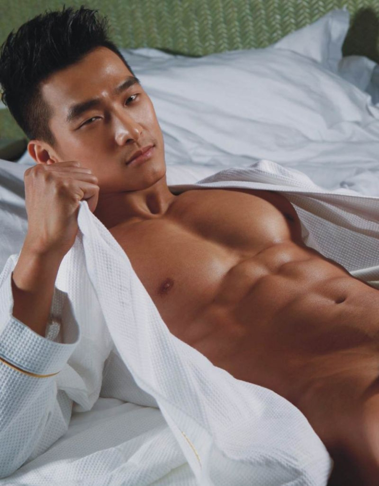 Asian Stud Model Jin Xiankui  Fashionably  Male-7743