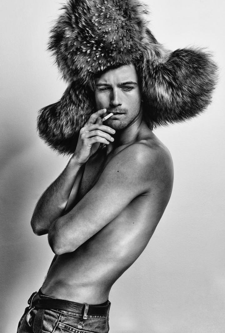 Interview September 2015 presents stunning images of male model RJ King captured by Chris Colls.
