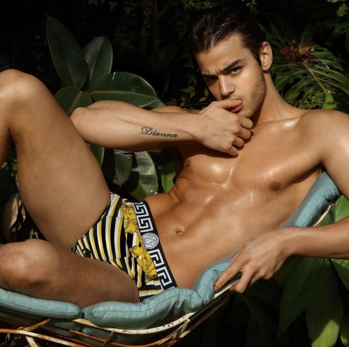 I was wondering who that boy might be, he's Scott Gardner in the inaugural issue for Lovesex Magazine, shot by Marco Ovando. Styling by Johnny Wajek and Makeup and grooming by Albert Elizondo.