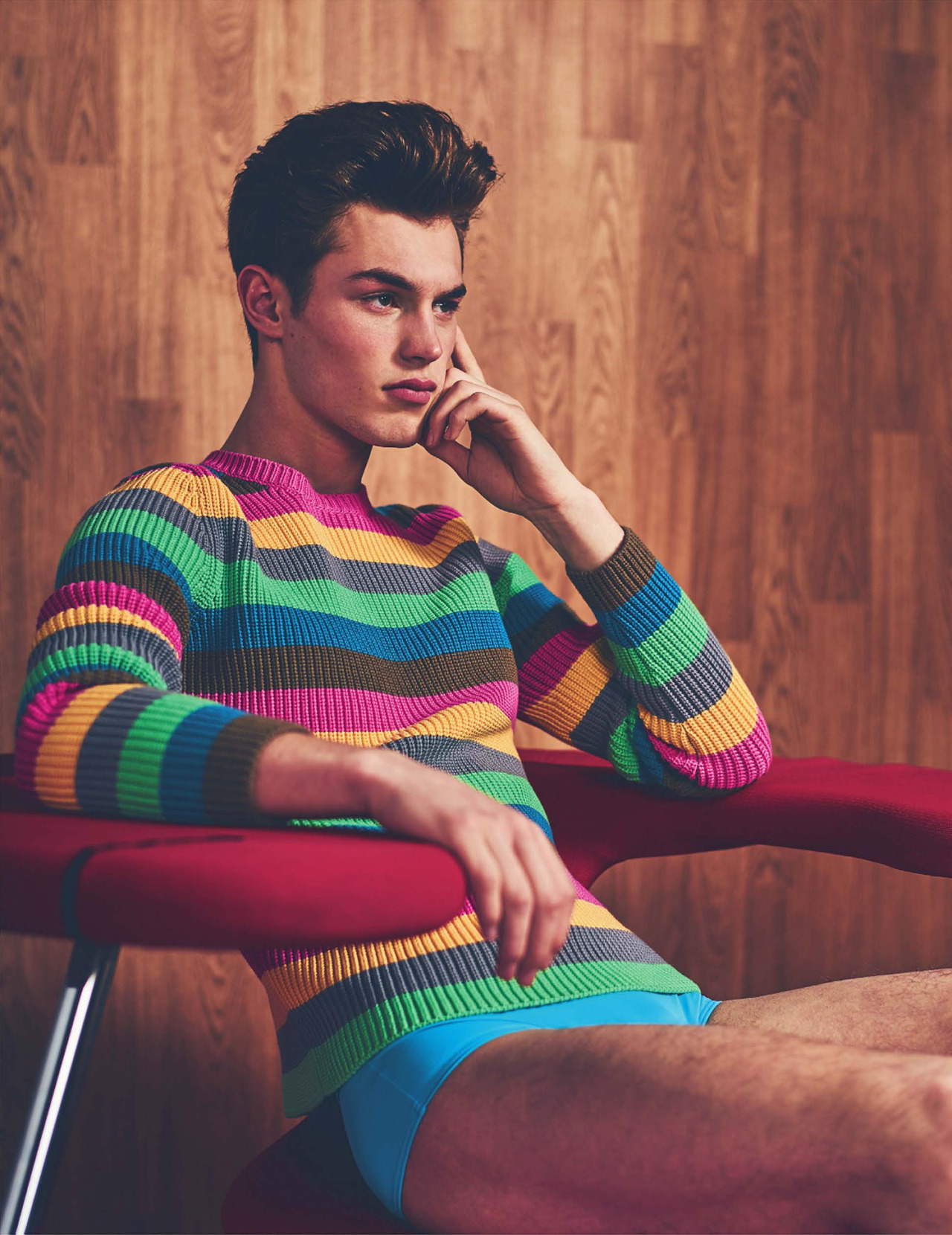 The independent Magazine releases March issue 2016 with beachwear story starring by supermodels and pals Tommy Marr and Kit Butler, styled by Lee Holmes.
