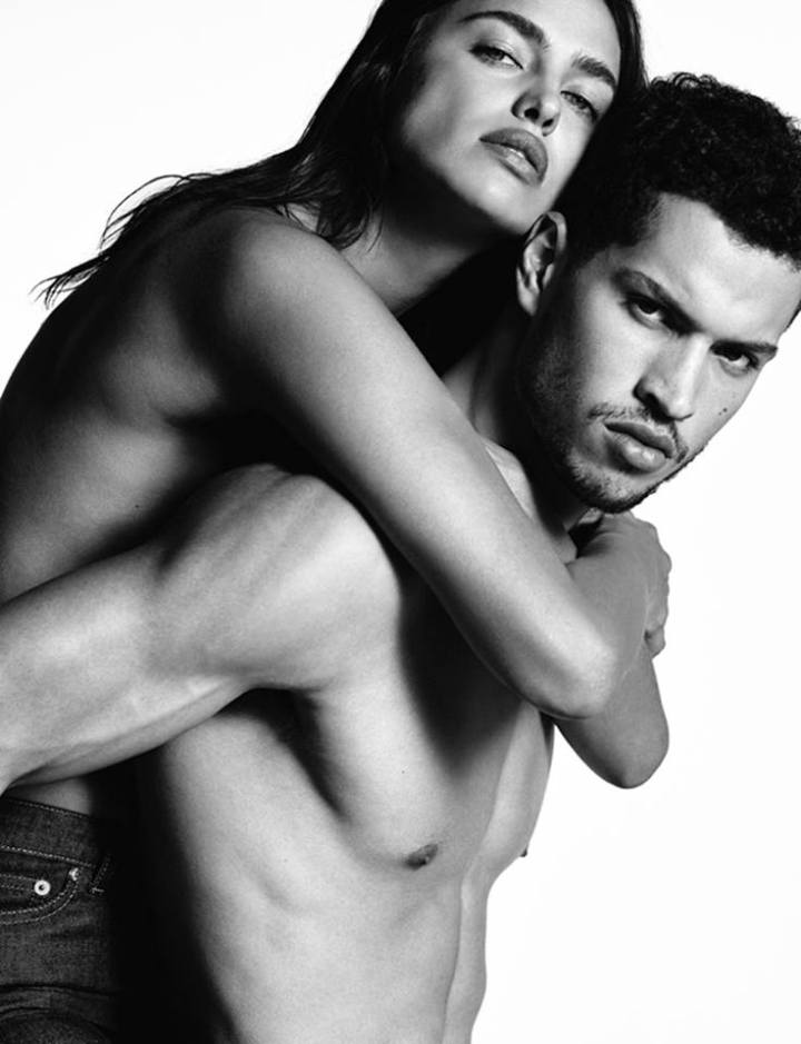 Discover Irina Shayk and Chris Moore in Givenchy Jeans by Riccardo Tisci shot by Luigi & Iango.