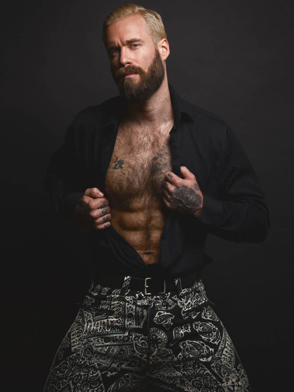 When you're a model or photographer and your based in New York City you've got to work with stylist Kai Jankovic, that's it. New sensation Gabe LaDuke gets style a la Jankovic the creative director of this project, shooting by Jade Young, apparels used by Designer Larry Underwood.