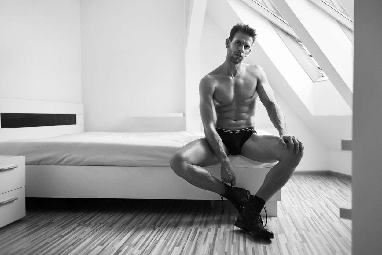 "The following presented here titled ""Attic Room"" features model Piotr Z. from United For Models. And this is the first time of photographer Dominik Więcek a young fashion photographer from Poland - Katowice."