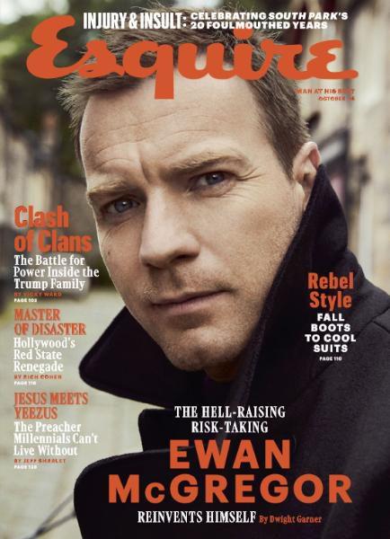 US Esquire October 2016: Ewan McGregor by Dusan Reljin