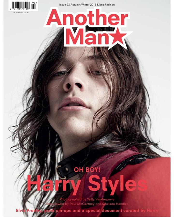 Harry Styles by Willy Vanderperre and Alister Mackie, art direction and logo by Studio191 NY.