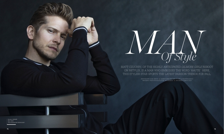 Man of Style: Matt Czuchry by Karl Simone. Is a man who embodies the word 'Haute' here.