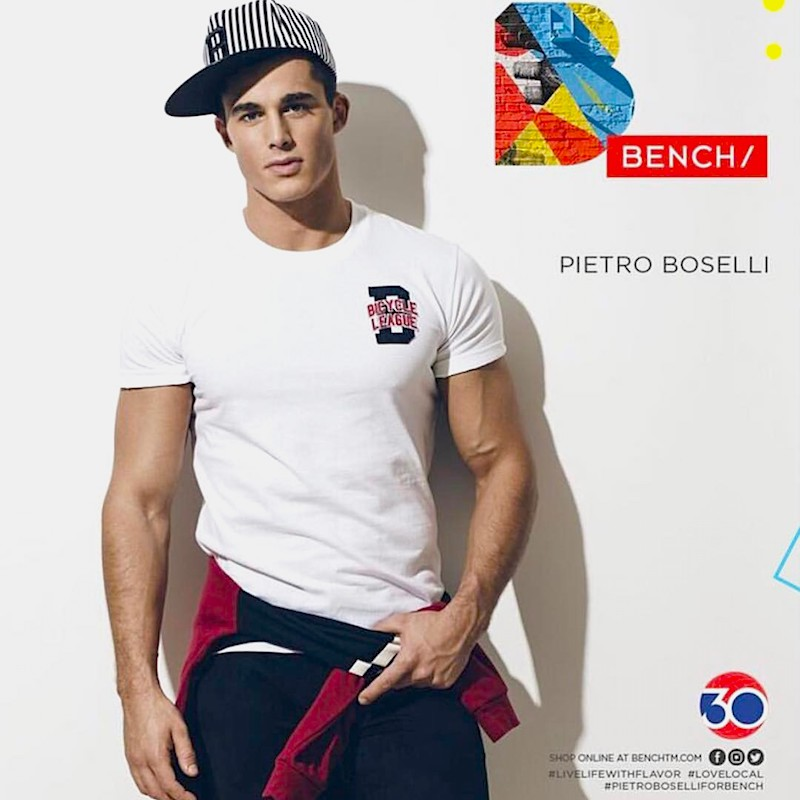 Hottest world Math teacher and Top Model Pietro Boselli now joins in new BENCH/BODY Underwear ad shots by Wong Sim