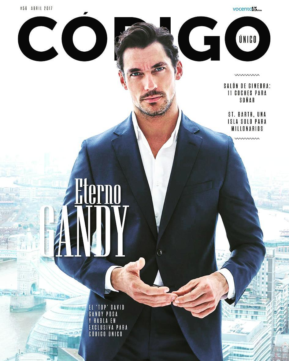 David Gandy photographed by famous talented fashion duo photographers Hunter & Gatti for Spanish Código Único Magazine April 2017.
