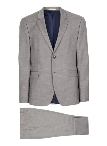Grey Marl Muscle Fit Suit