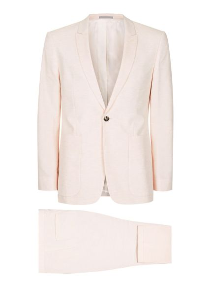Pink Lightweight Skinny Fit Suit