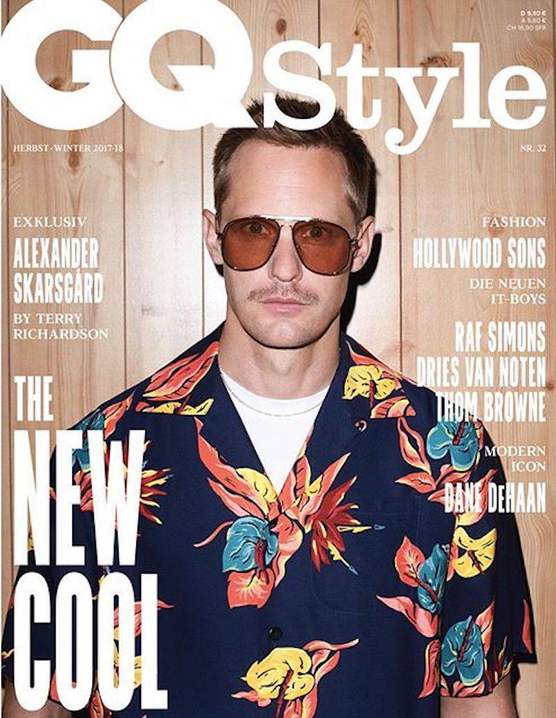 Alexander Skarsgård by Terry Richardson for GQ Style Germany AW1716