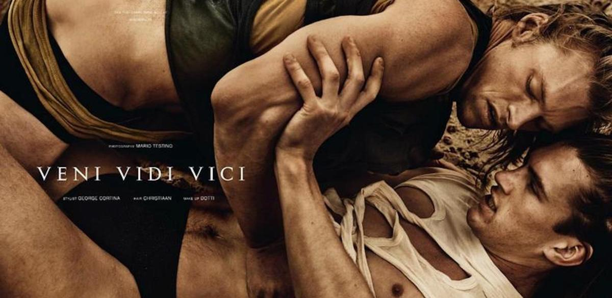 "Aurelien Muller, Matthew Terry & David Genat in ""Veni Vidi Vici"" for Man About Town"